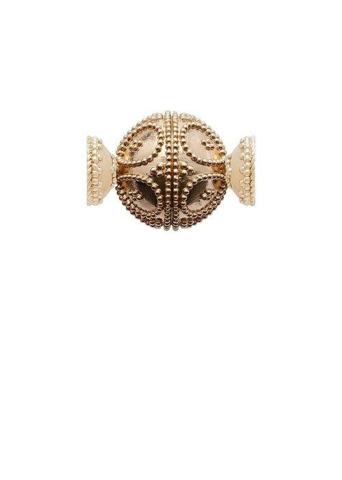 Clara Williams Clara Williams 14K Gold Plated Filigree Round Centerpiece