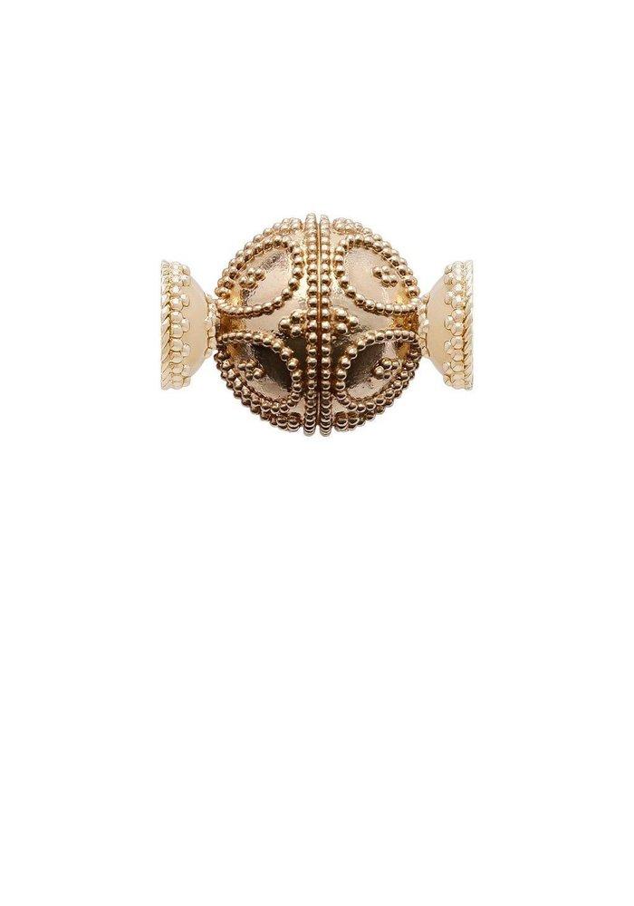 14K Gold Plated Filigree Round Centerpiece