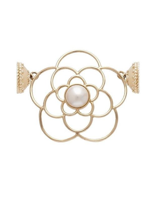 CWC Jewelry De La Rosa 14K and White Pearl Centerpiece