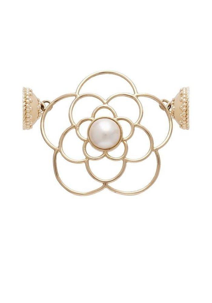 Clara Williams De La Rosa 14K and White Pearl Centerpiece