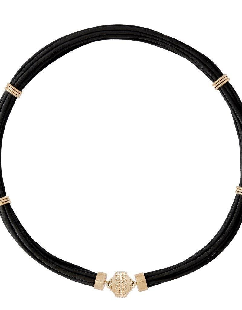 CWC Jewelry  Aspen Leather Necklace - Jet Black