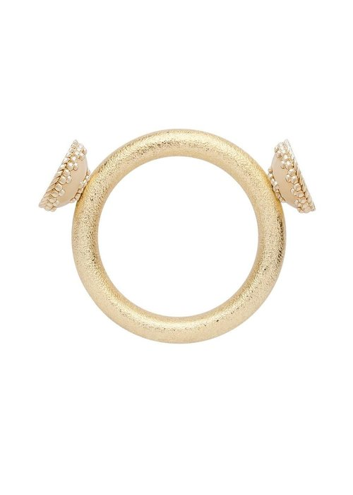 CWC Jewelry HALO BRUSHED 14K GOLD PLATED CENTERPIECE