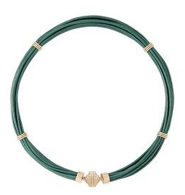 CWC Jewelry Aspen Leather Necklace - Mallard Green