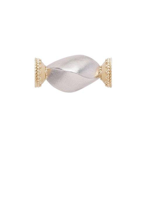 CWC Jewelry Silk Dune Rhodium Plated Brushed Centerpiece