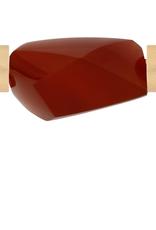 CWC Jewelry Carnelian Large Faceted Centerpiece