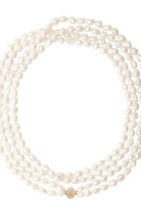 """CWC Jewelry Freshwater Pearl Peacock Small Irregular Operal Length Necklace 48""""L"""
