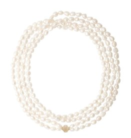 "CWC Jewelry Freshwater Pearl Peacock Small Irregular Operal Length Necklace 48""L"