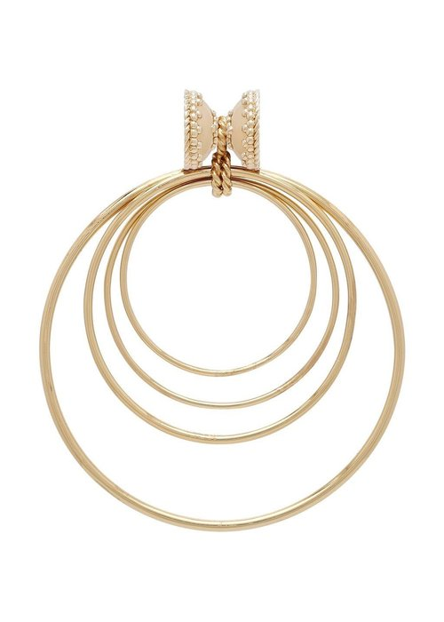 CWC Jewelry Large Orbit 14K Plated Centerpiece