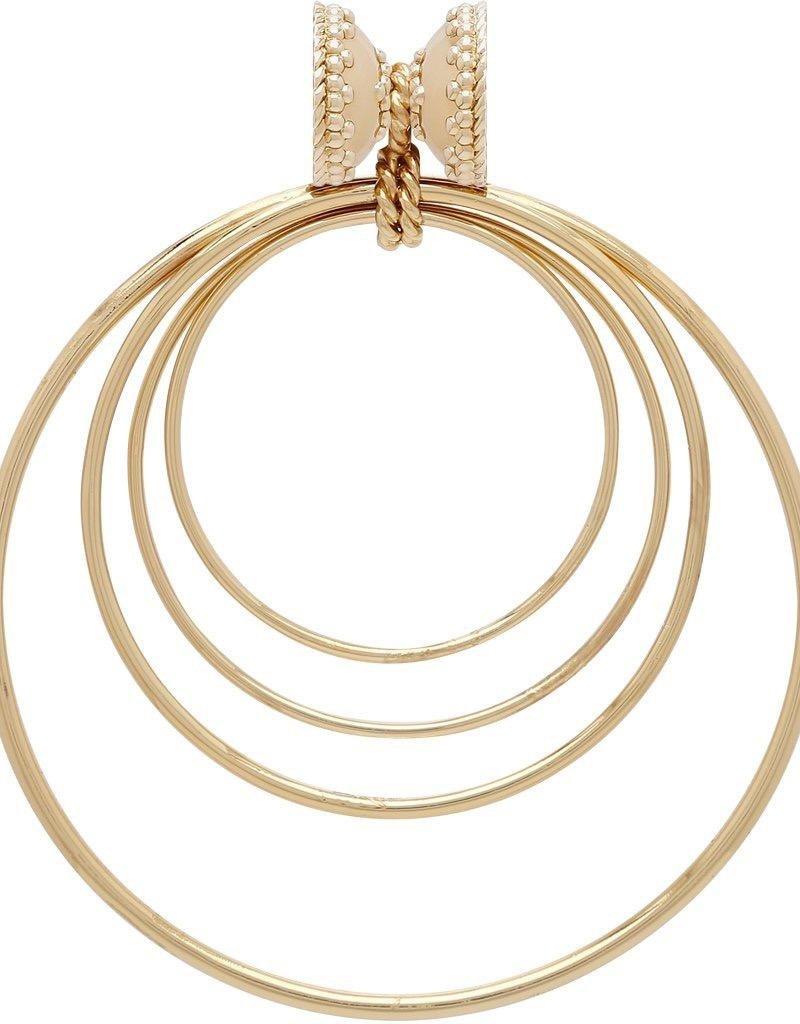 CWC Jewelry Large Orbit 14K Plated Centerpiece