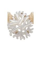 CWC Jewelry 14K & Coral Shape Mother of Pearl Centerpiece