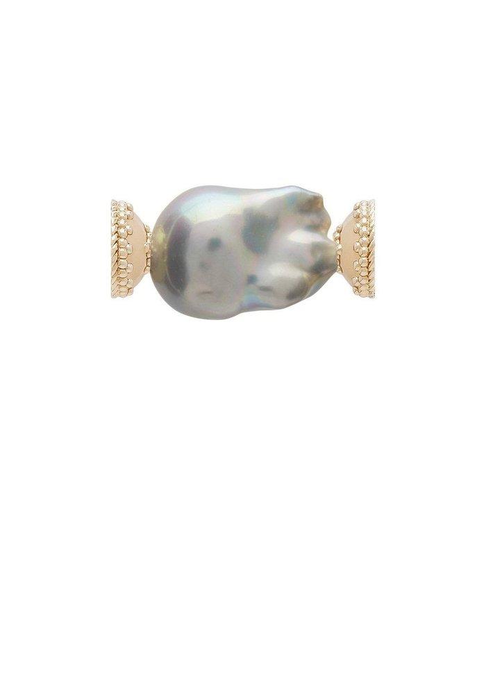 Clara Williams Freshwater Grey Baroque Pearl