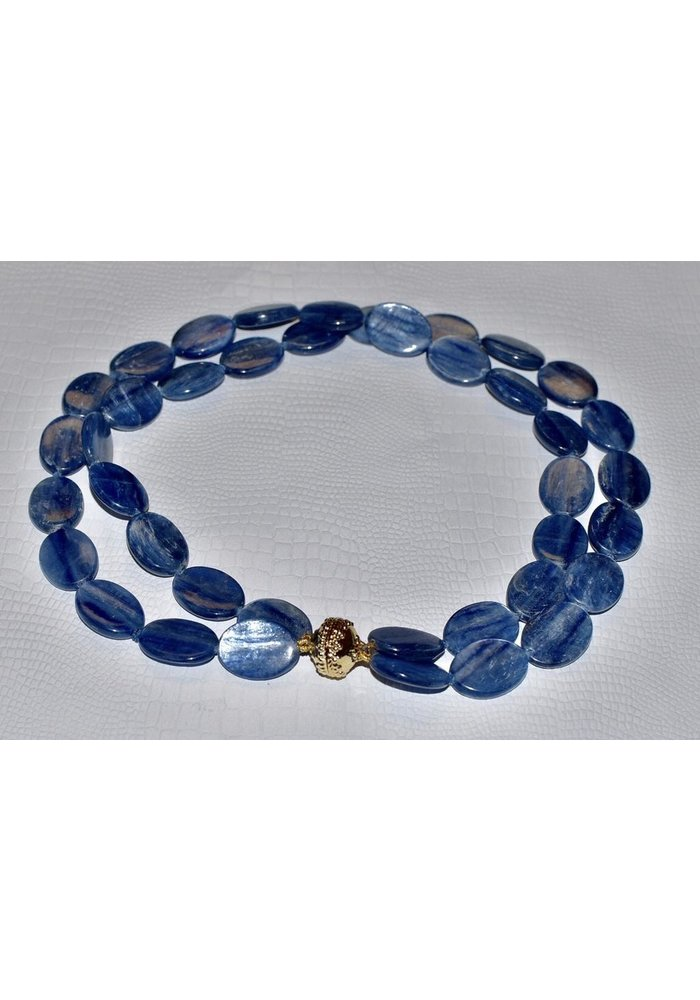 Tumbled Kyanite Necklace With Signature Clasp