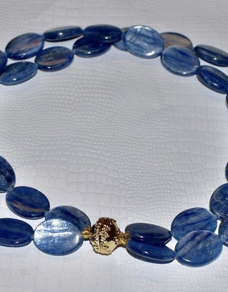 CWC Jewelry Tumbled Kyanite Necklace With Signature Clasp