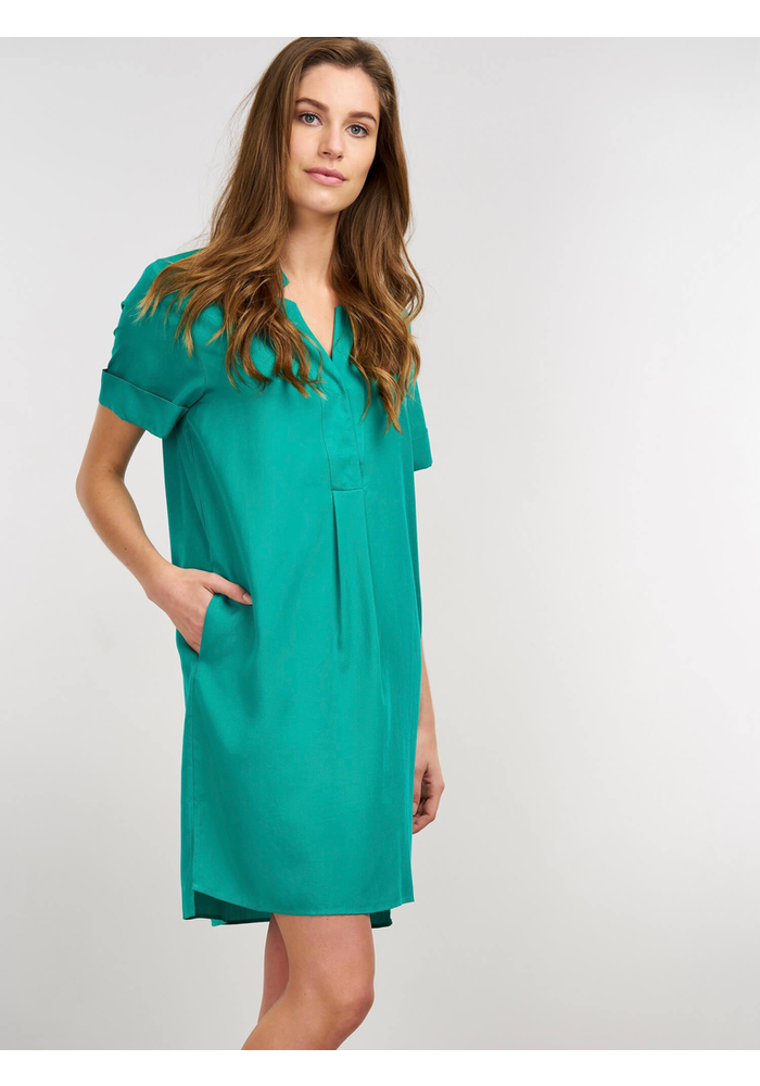 Dress with Pockets in Tencel Fabric
