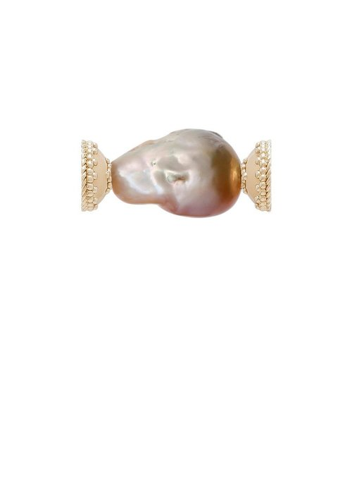 CWC Jewelry Freshwater Baroque Pearl Golden Pink Centerpiece