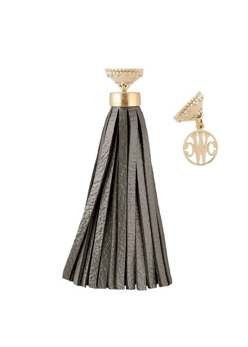 CWC Jewelry BAJA MUSHROOM LEATHER TASSEL