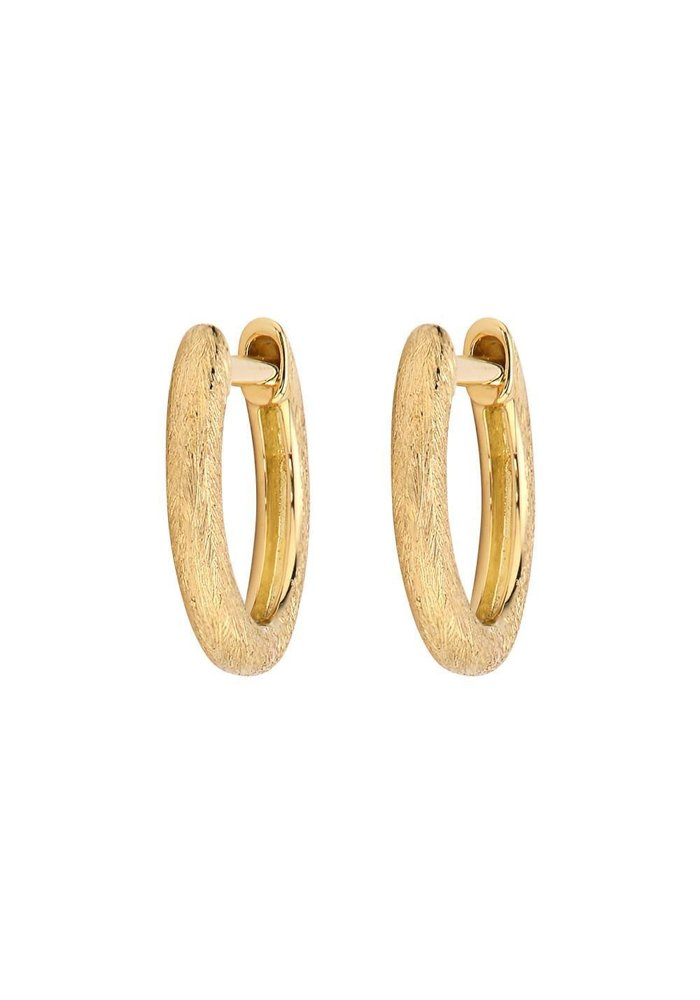 Delicate Provence Champagne Hoop Earring YG