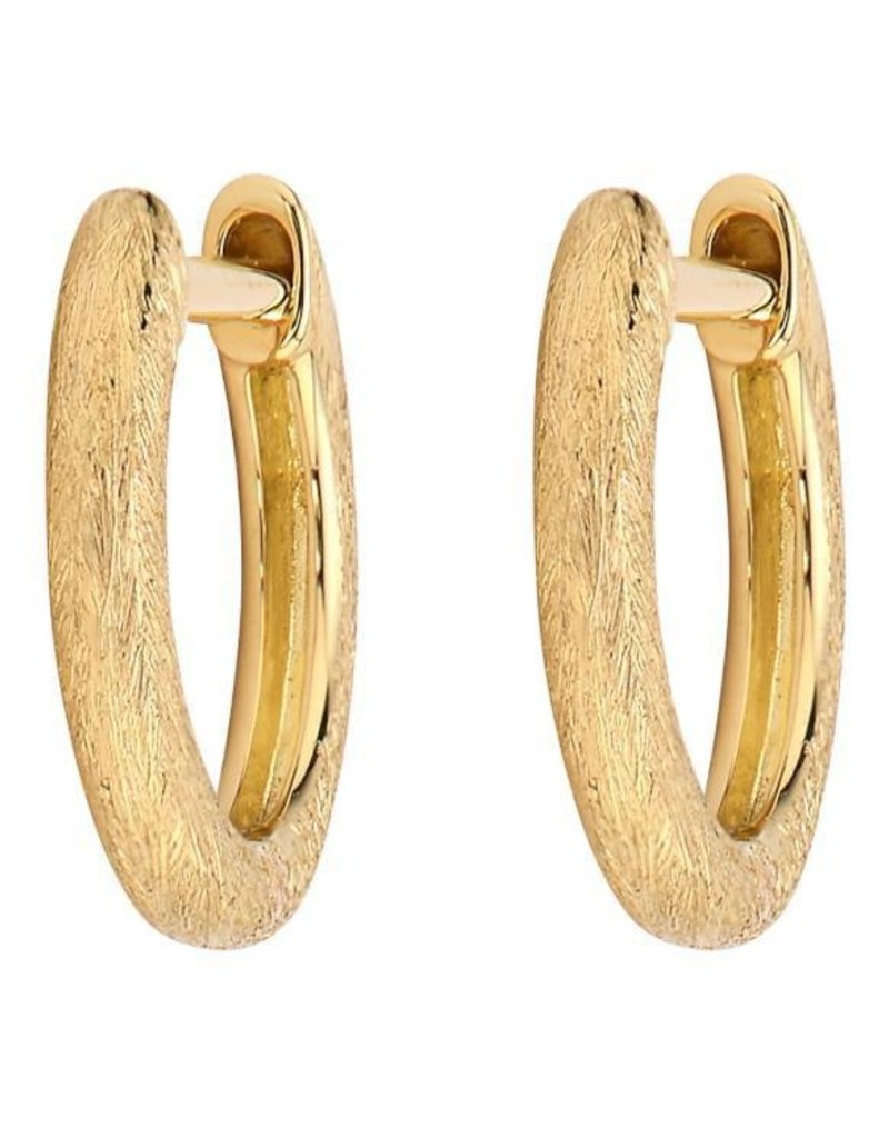 Jude Frances Delicate Provence Champagne Hoop Earring YG