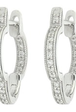 Jude Frances Delicate Small Clover Hoop Earrings 18k Yellow Gold