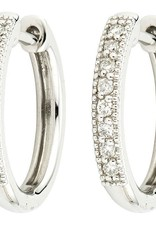 Jude Frances 18K Camelia Hoops Earrings White Gold