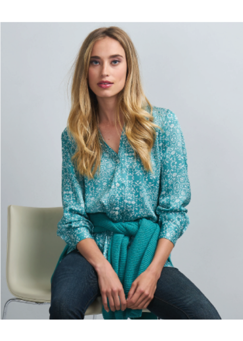 Repeat Cashmere Pattern Blouse Floral Print
