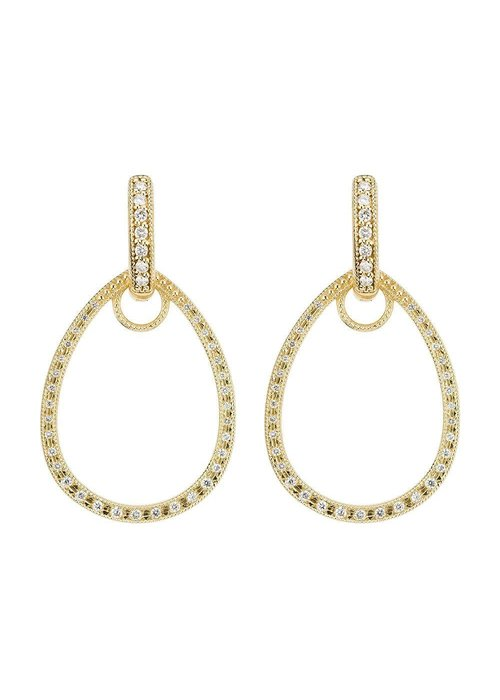 Jude Frances Classic Pave Tear Drop Earring Charm Frames