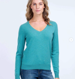 Repeat Cashmere Cashmere V-Neck Sweater 100% Cashmere
