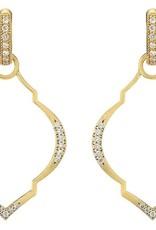 Jude Frances Casablanca Moroccan Charm Frames 18K Yellow Gold .23 TCW Diamonds