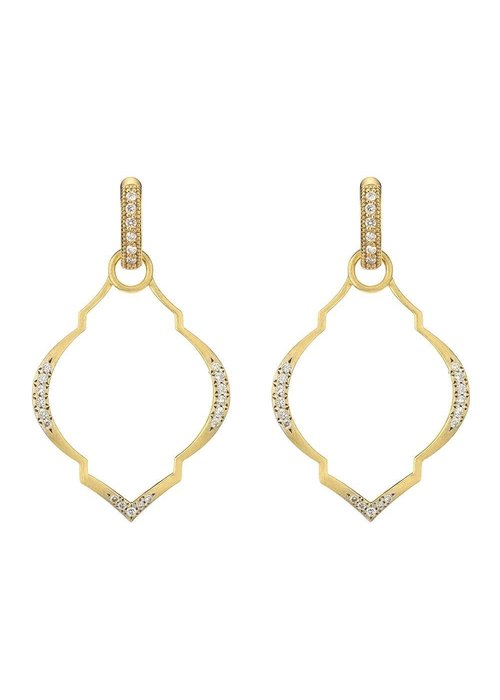 Jude Frances Jude Frances Casablanca Moroccan Charm Frames 18K Yellow Gold .23 TCW Diamonds