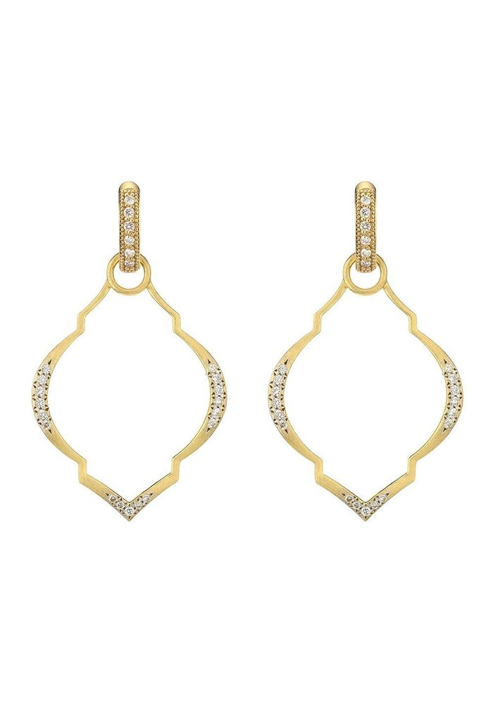 Casablanca Moroccan Charm Frames 18K Yellow Gold .23 TCW Diamonds