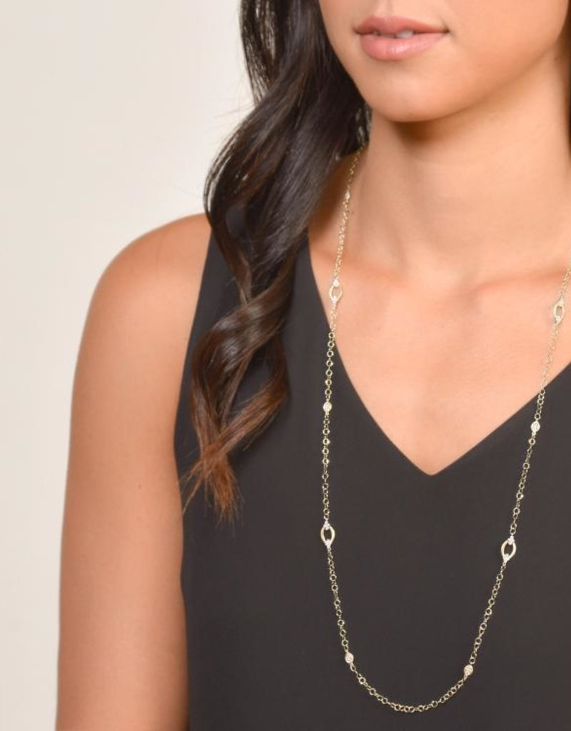 Jude Frances Provence Alternating Marquis Delicate Necklace