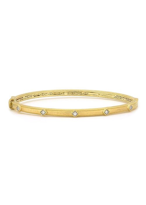 Jude Frances LISSE DIA BANGLE 18K