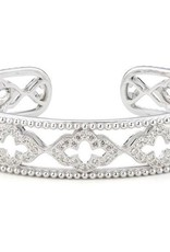 Jude Frances Jude Frances Sterling Silver White Topaz Pave 1.94 TCW Cuff