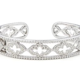 Jude Frances Sterling Silver White Topaz Pave 1.94 TCW Cuff
