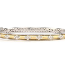 Jude Frances Mixed Metal Delicate Provence Beaded Quad Cuff