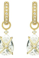 Jude Frances Tiny Criss Cross 18K White Gold, White Topaz 4.78 TCW