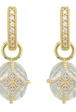 Jude Frances Lisse Oval Stone Lacey Kite Earring Charms