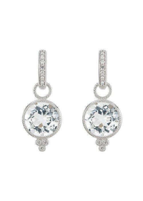 Jude Frances 18K White Gold Provence White Topaz Earring Charms