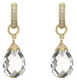 Jude Frances Yellow Gold Pear Shape Moonstone Briolette Earring Charm