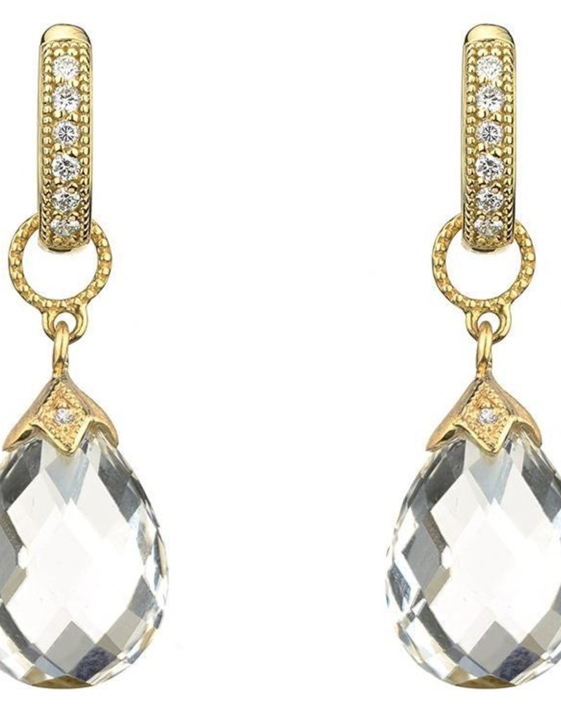 Jude Frances Yellow Gold Pear Shape Moonstone Briolette Earring Charm
