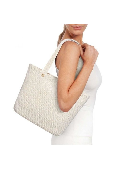 Eric Javits Squishee Tote White Mix