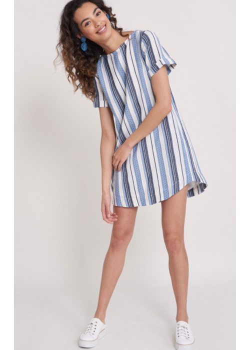 Roller Rabbit Jacquard Stripe Hinata Dress