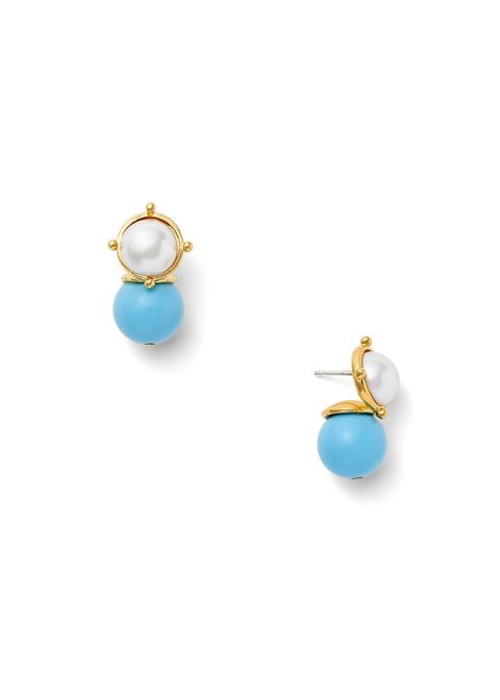 Catherine Canino Mabe mother of pearl and semi precious stone, Turquoise