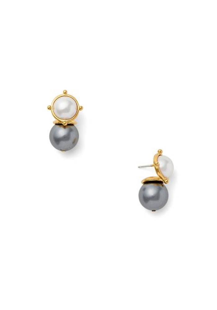 Mabe mother of pearl and semi precious stone, Pale Grey