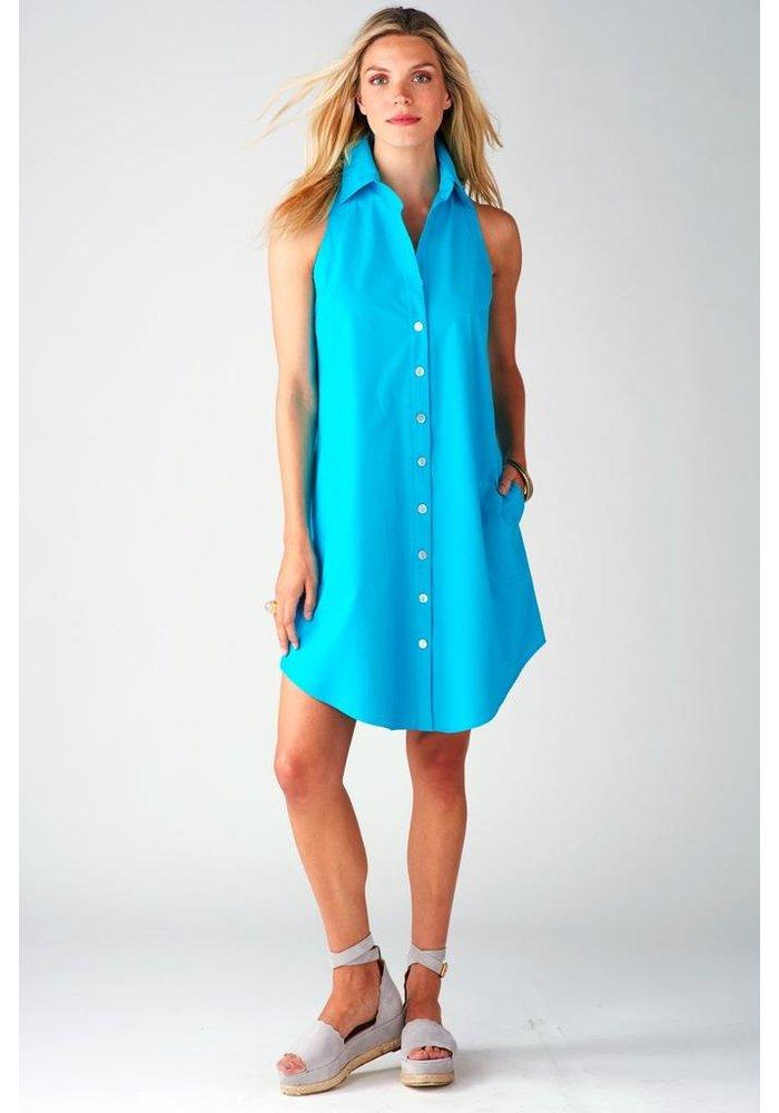 Dark turquoise swing dress
