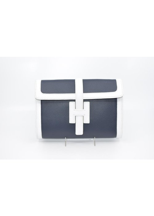 Stephano Bravo Clutch bag in Navy and White