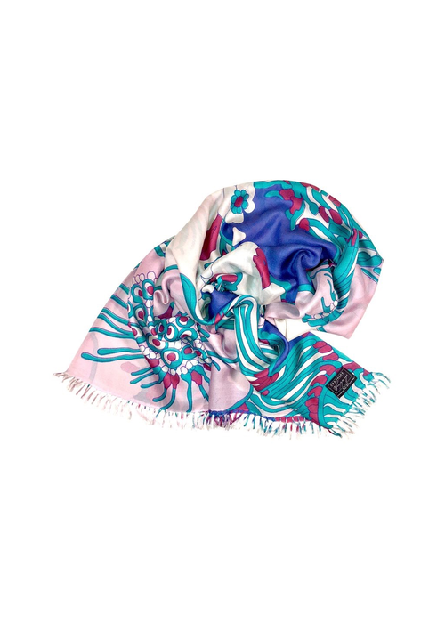 """Cashmere Wrappings Cashmere Wrappings 100% Silk Scarf """"Fiore"""" -Pinks"""