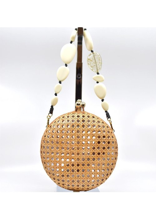 Serpui Lizzy Wicker with White Strap