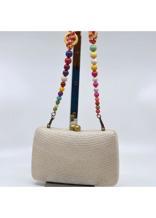Serpui Marissa Bun With Beaded Strap - Sand
