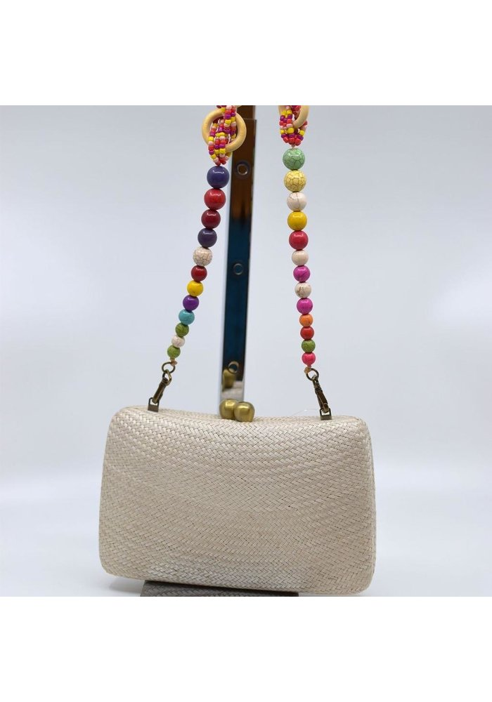 Marissa Bun With Beaded Strap - Sand